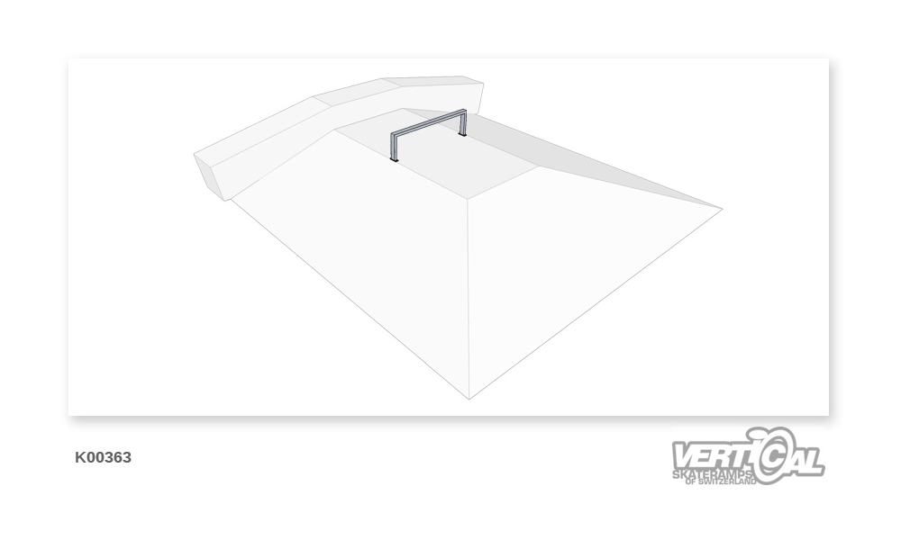 Rail 1/3 rectangular tube flat
