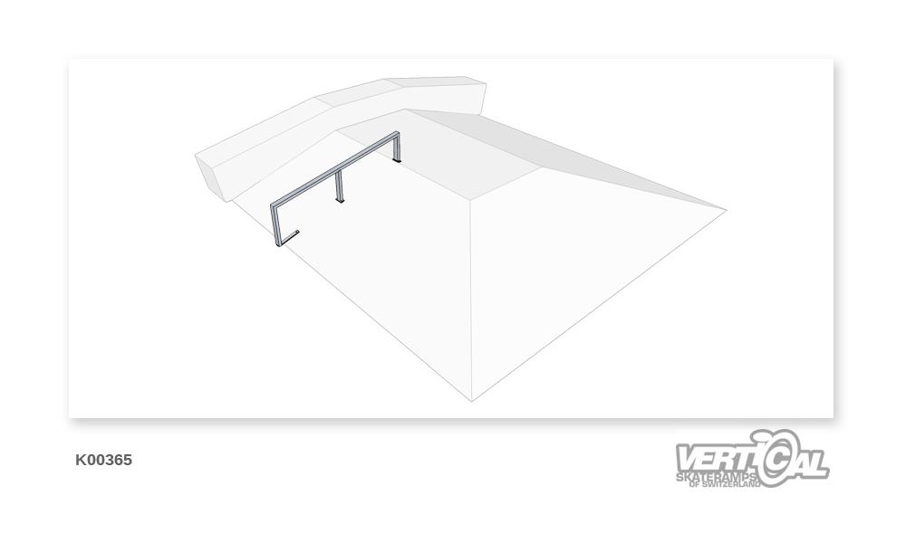 Rail 1/3 rectangular tube down