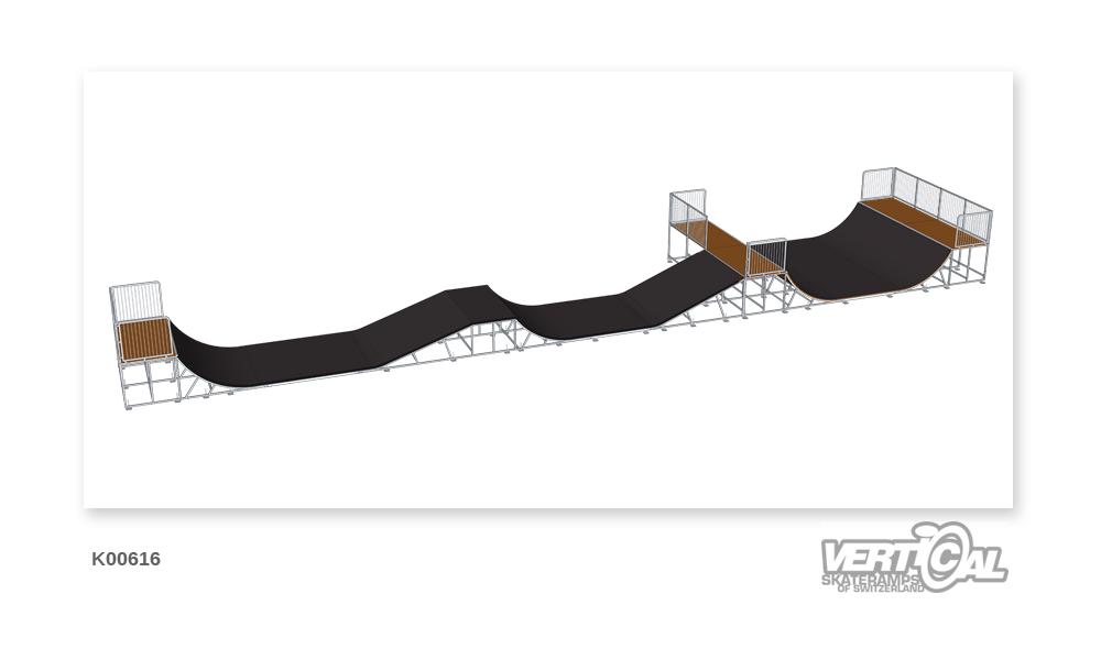 Miniramp 1400 + Jump Line