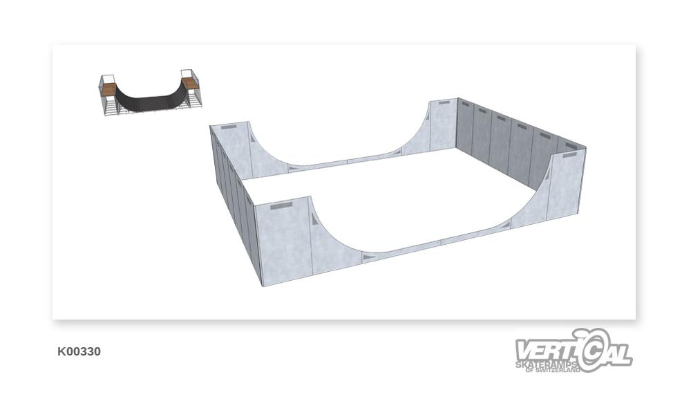Enclosure for Midiramp 2550 9m